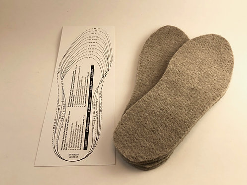 Insoles Qiviut and Wool