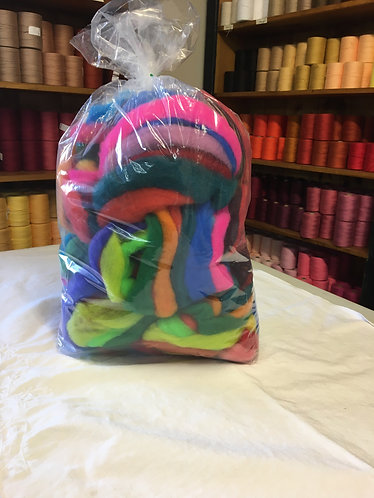 Bright Colour mix roving