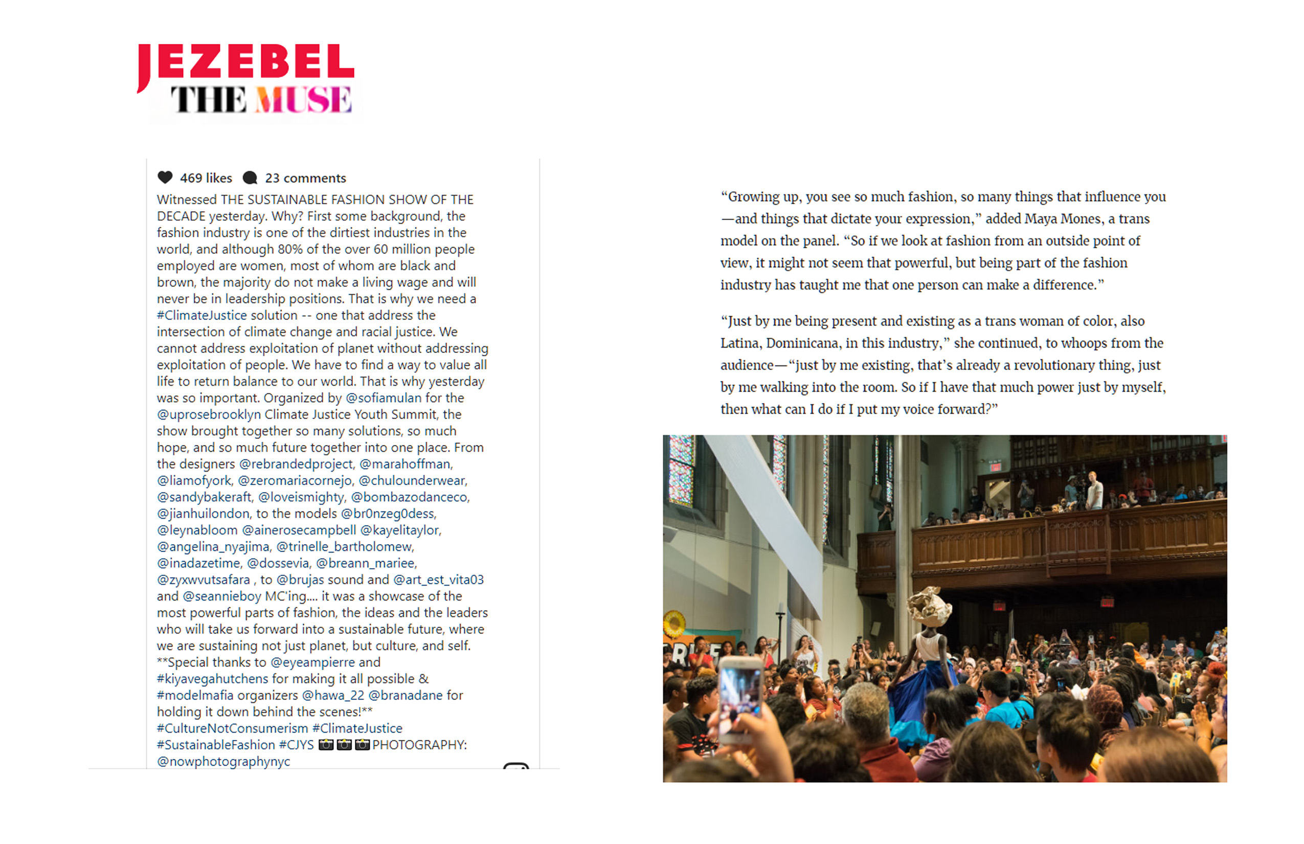 Jezebel The Muse Climate Justice Youth Summit Fashon Show article by E Shechet page 04