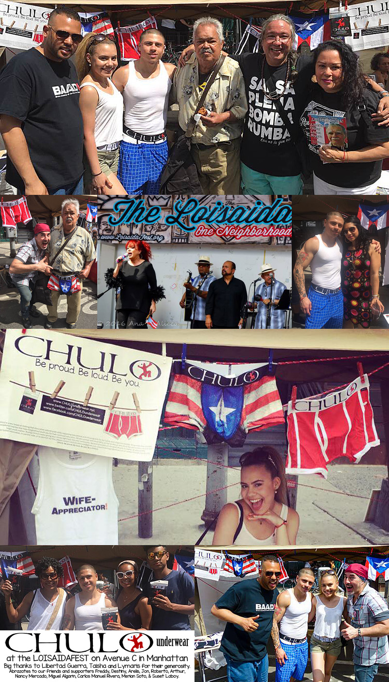 CHULO Underwear Collage at LoisaidaFest 2016