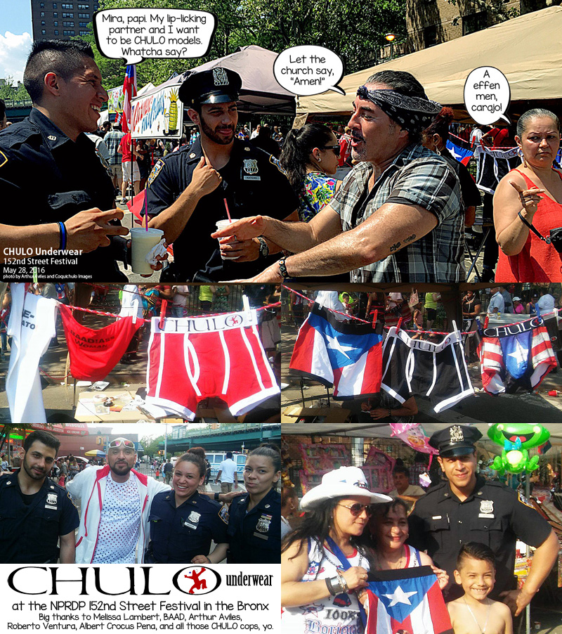 CHULO at 152nd Street Festival May 28 2016 collage thank you
