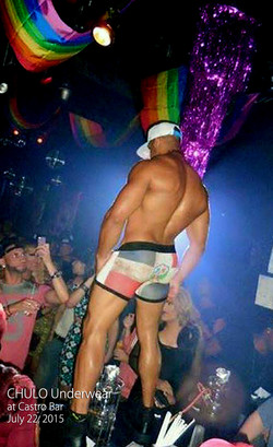 CHULO Underwear model Scorpio onstage at Castro