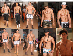 GET OUT Magazine two page spread for CHULO Underwear Fashion Show UFW at Audobon