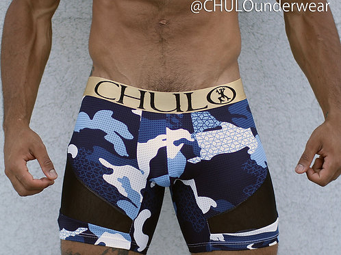 CHULO AirFlow Sport Boxer in Blue Camouflage