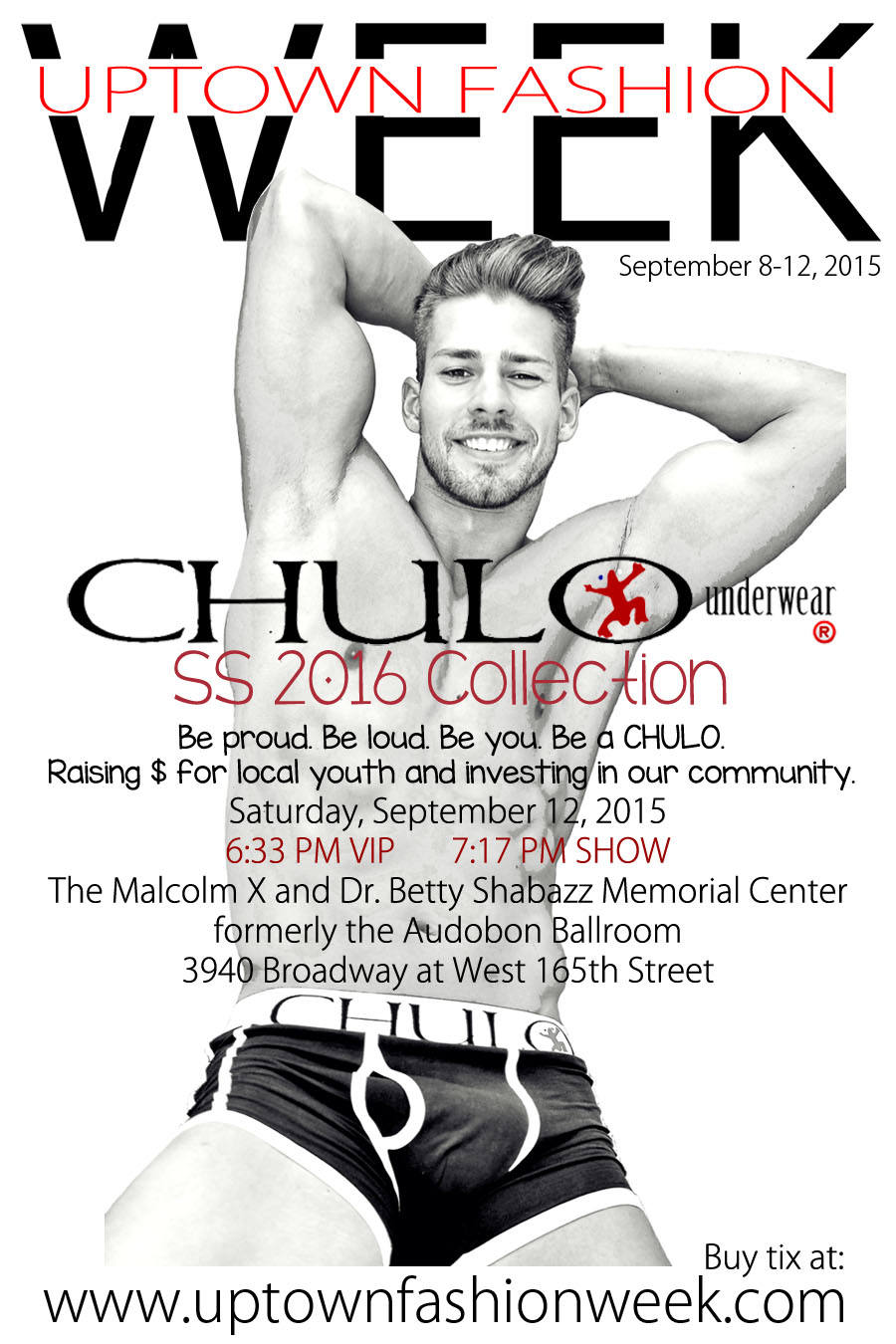 UPDATED CHULO Underwear UPTOWN FASHION WEEK promo with fade by RMuniz