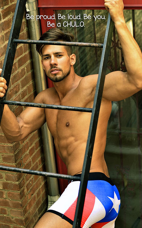CHULO Underwear, Puerto Rican Flag Sport Boxer