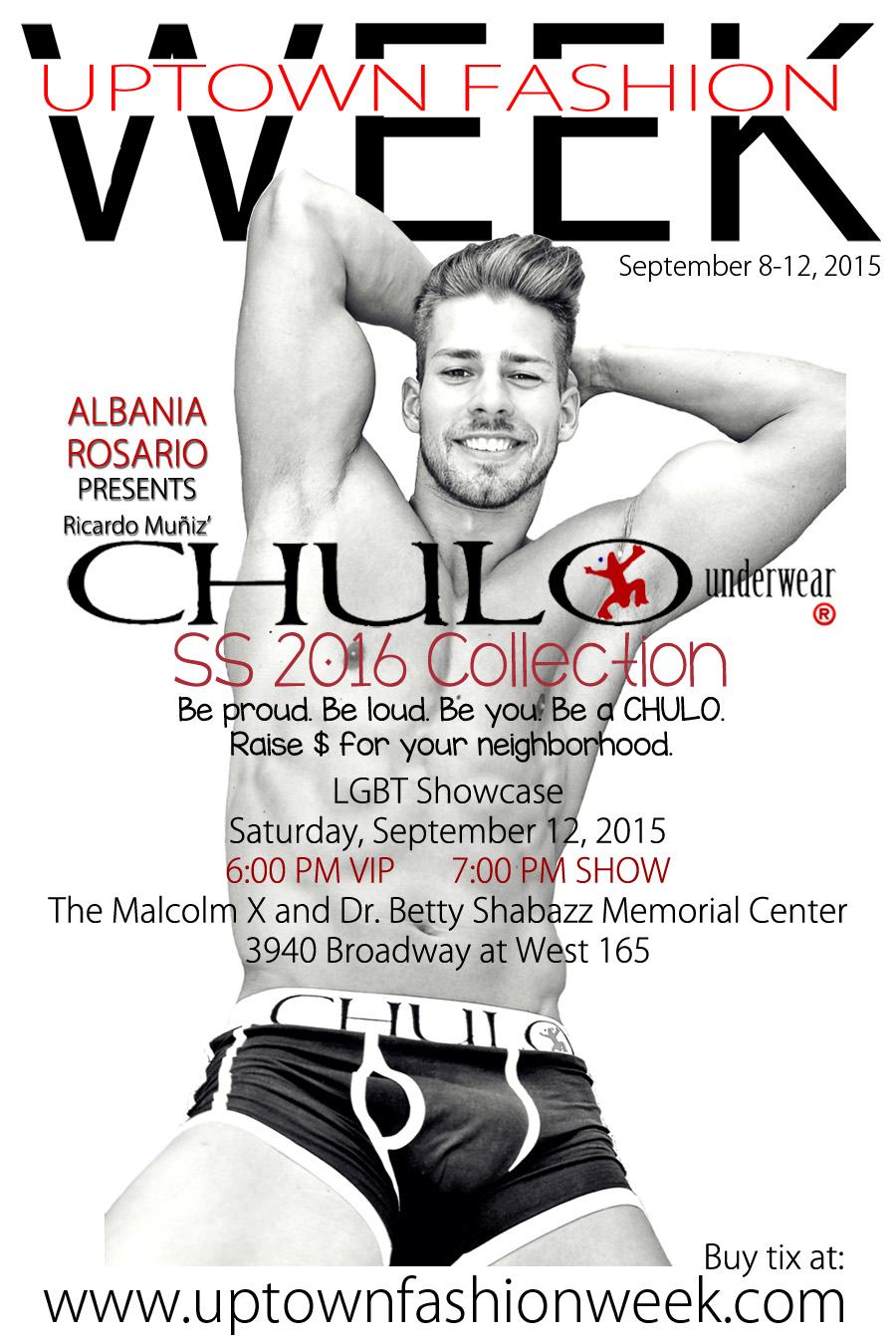 CHULO Underwear UPTOWN FASHION WEEK promo