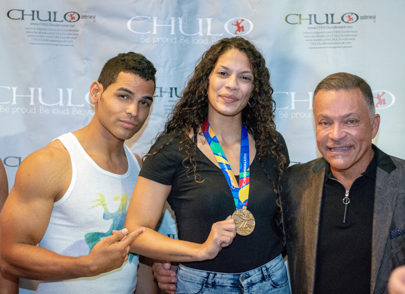 Step and Repeat with Nisa Rodriguez and Luis Laviena by Eddie Pabon