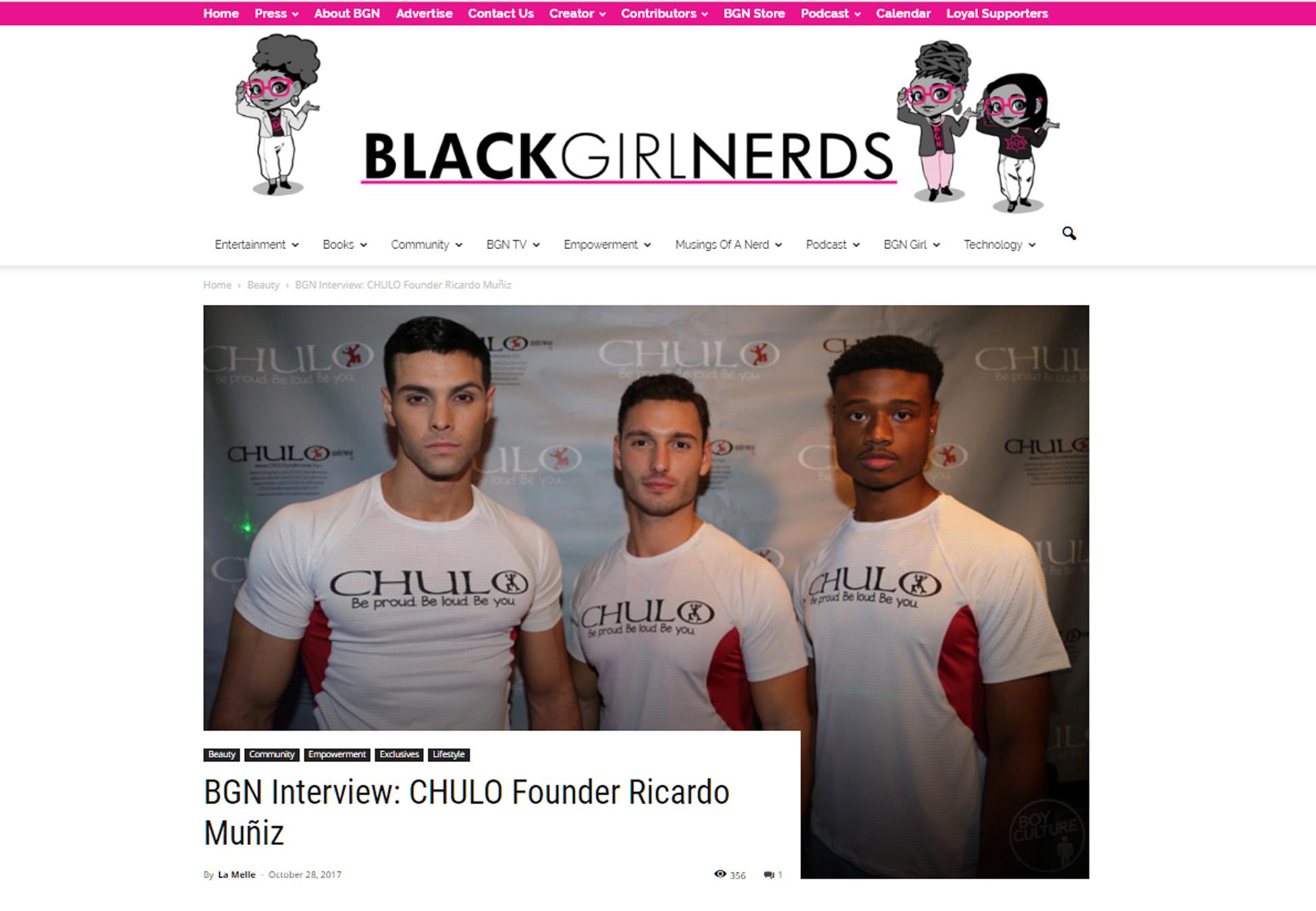 Black Girl Nerds Lauren La Melle CHULO Oct 28 2017 page 01