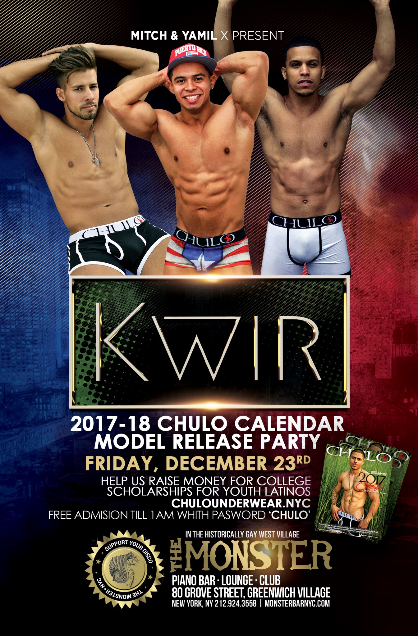 CHULO Calendar Release 2016