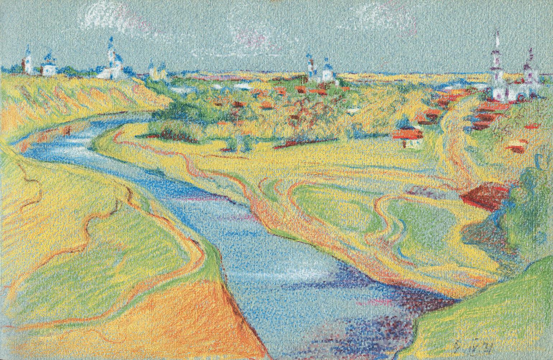 Вид на Мценск. 1931