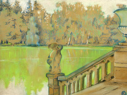 Зеленый прудик. Быково. 1916