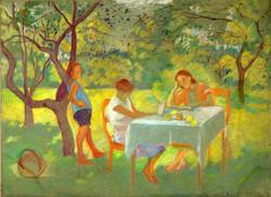 Алеша, Таня и Ася. 1930