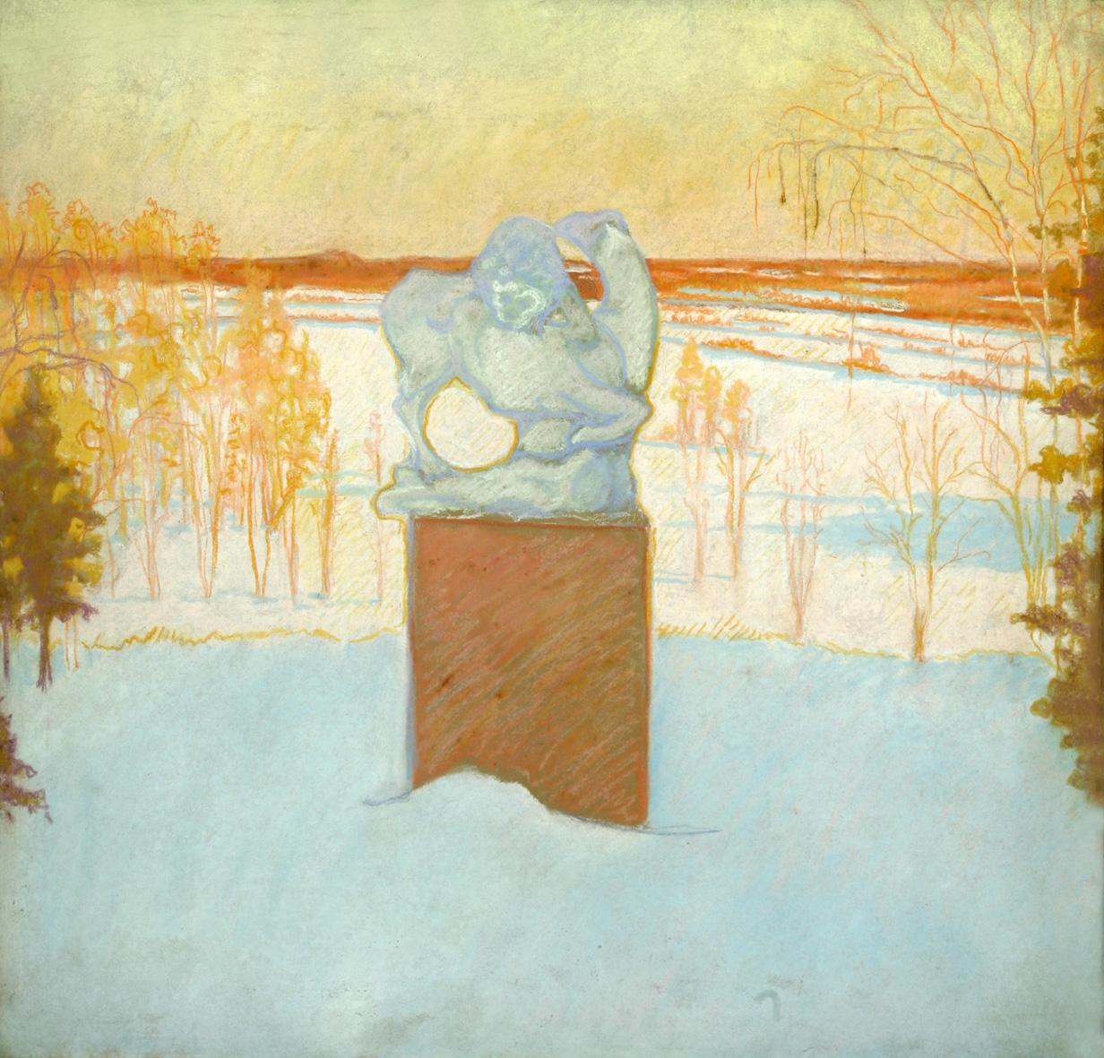 Пейзаж со скульптурой. Райки