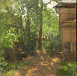Во дворике домика Кузнецовых