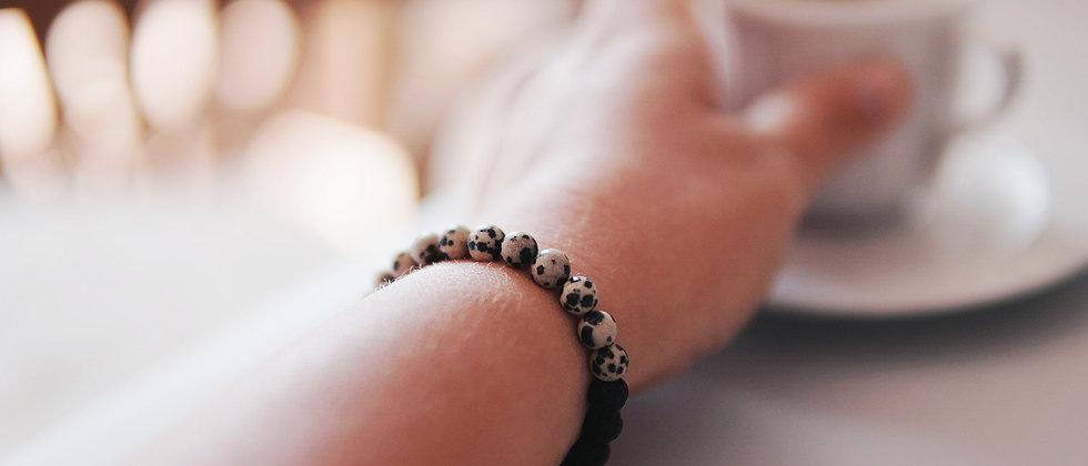 Dalmatian Style Stone with Black Lava