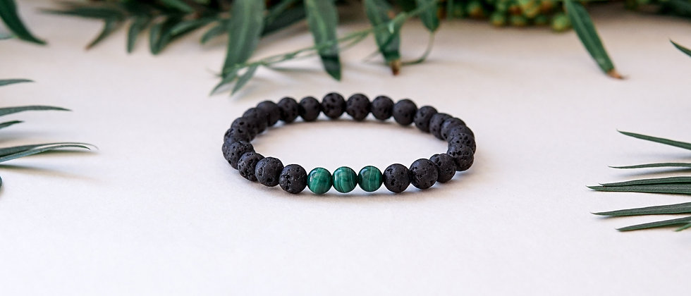 Malachite Bracelet, Green stone bracelet