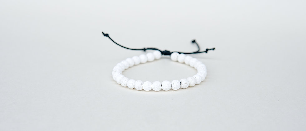 White Lava on Adjustable Black String