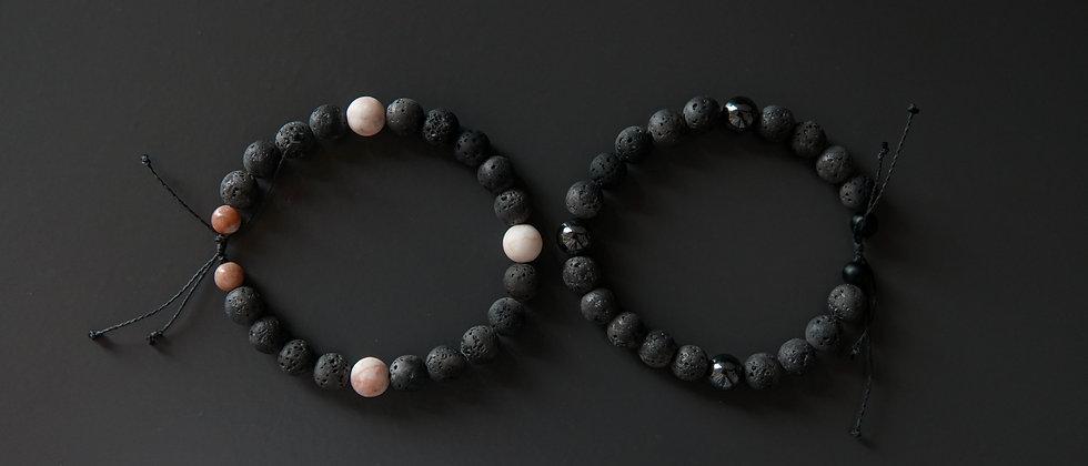 Kevlar Adjustable Couple Bracelet Set