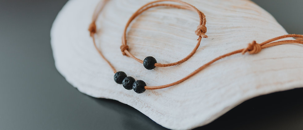 Leather String Diffuser Jewellery set