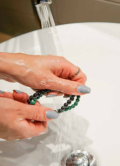 washing lava bracelet, how to clean lava