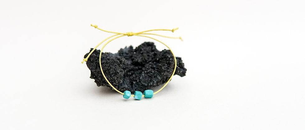 Colourful 3 bead Adjustable Bracelet