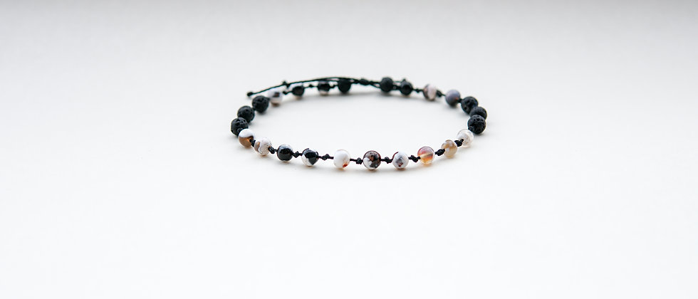 Women´s Black Adjustable Anklet