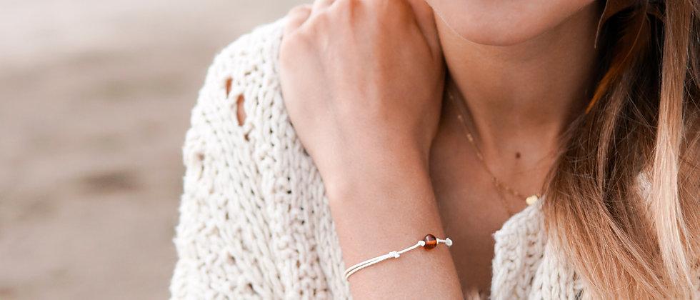 String knotted Amber bracelet