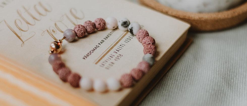 Magnetic Lava stone Bracelet