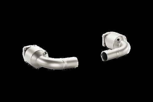 Akrapovic Link Pipe Set mit Sportkat für Porsche 991 Turbo / S