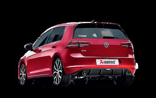Akrapovic Slip On Abgassystem für den VW Golf 7 GTI (ABE)