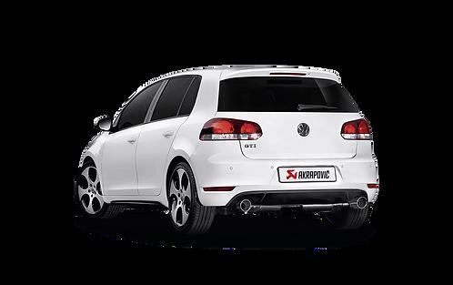Akrapovic Slip On Abgassystem für VW Golf VI GTI (ABE)