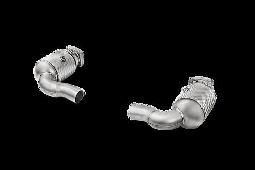 Akrapovic Link Pipe Set mit Kat für Porsche 991.2 Turbo / Turbo S