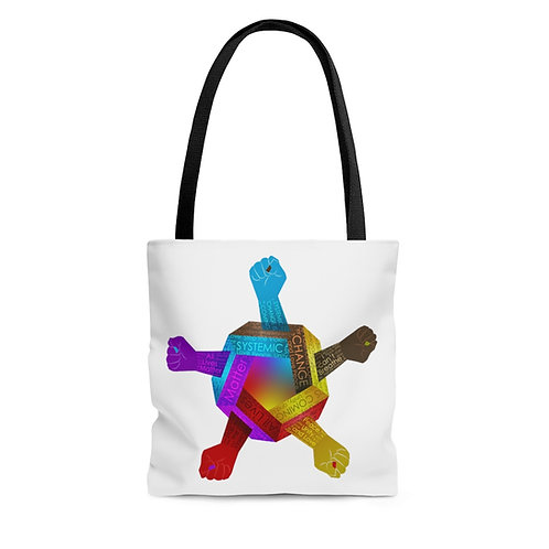 United Hand Colorful Tote Bag