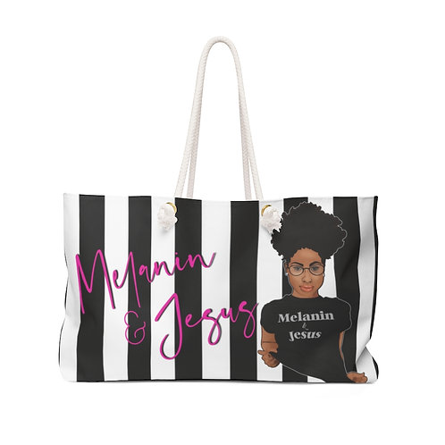Melanin & Jesus Overnight Bag