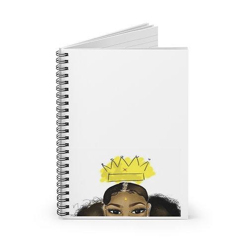 Evolving Queen Spiral Notebook