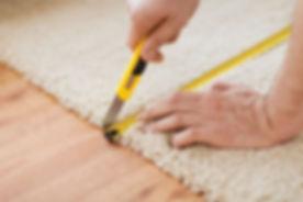 Carpet being installed