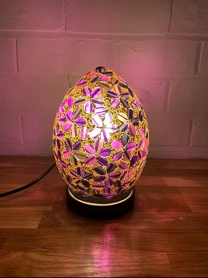 Flower Mosaic Egg Lamp