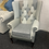 Thumbnail: Leather Patchwork Wingback chair