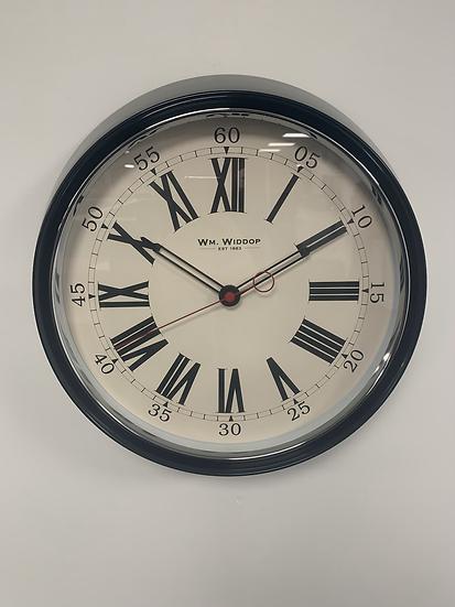 Round Black Clock