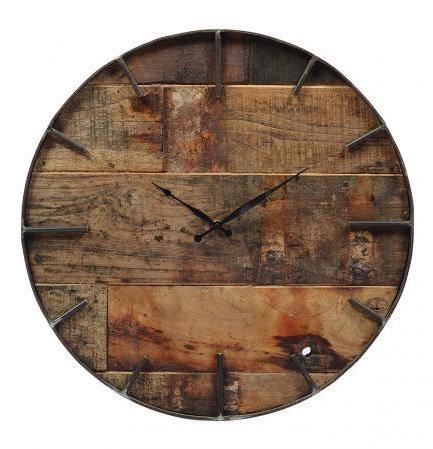 Round Teak Clock