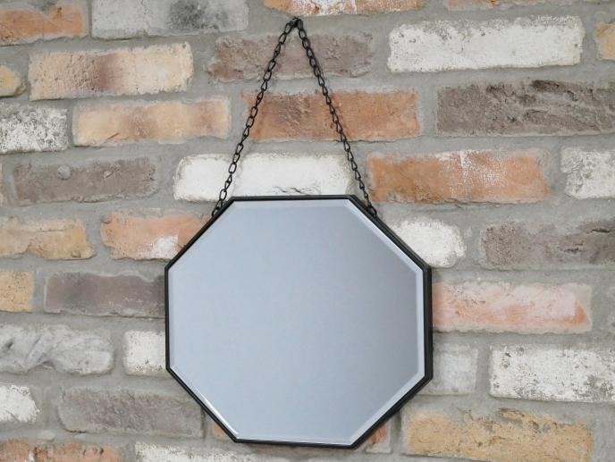 Black Octagonal Mirror