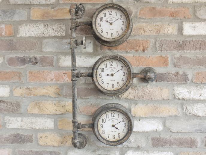 Industrial Triple Clock
