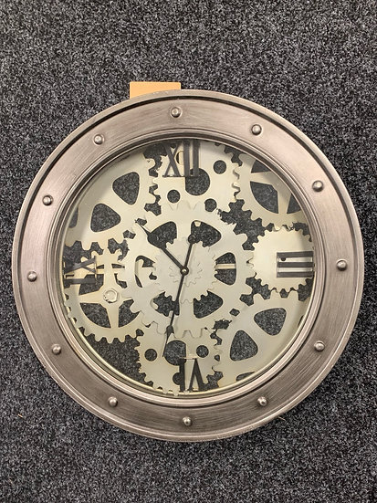 Clock with cogs