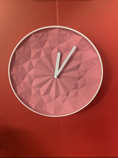 Pink Round Clock