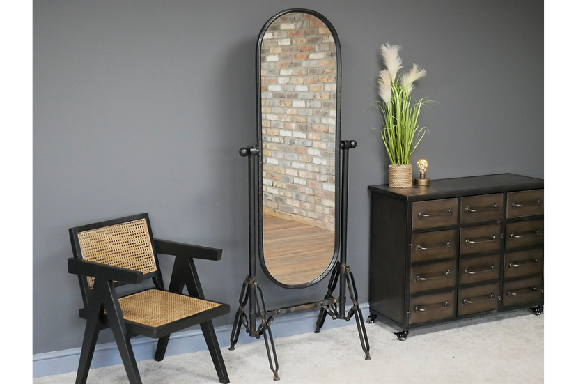 Industrial Cheval Mirror