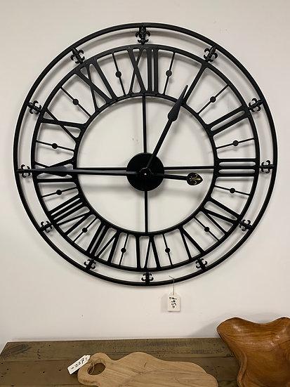 Black Skeleton Clock