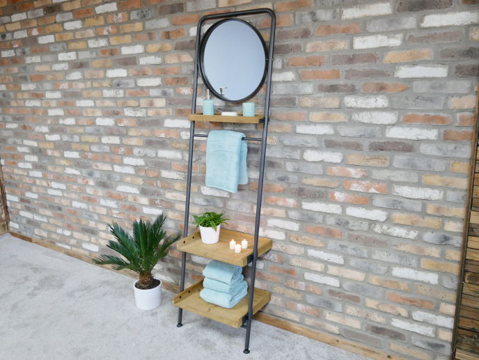 Shelving Unit and Mirror