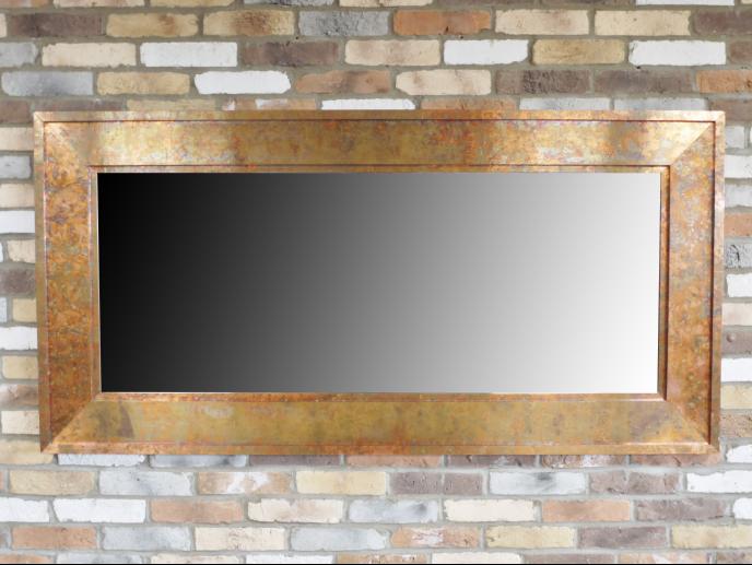 Large Rectangular Copper Effect Mirror