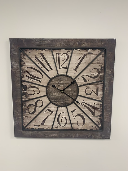 Square Industrial Clock